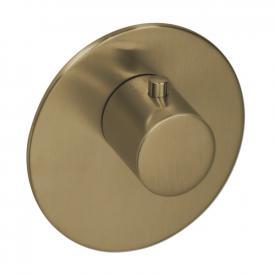 Herzbach Logic XL Vario Einzel-Thermostatmodul rund brass steel