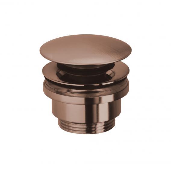 Herzbach Design iX PVD Design-Ablaufventil mit/ohne Staufunktion copper steel
