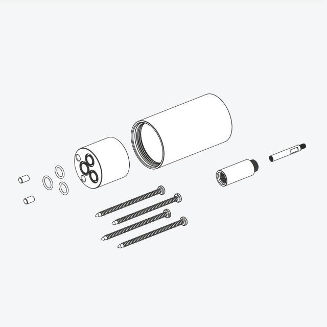 Herzbach DEEP BLACK Unterputzverlängerung für Unterputz-Einhandmischer, Länge: 30 mm schwarz matt