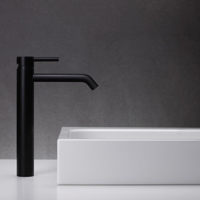 Herzbach DEEP BLACK Waschtisch-Einlochbatterie L-Size
