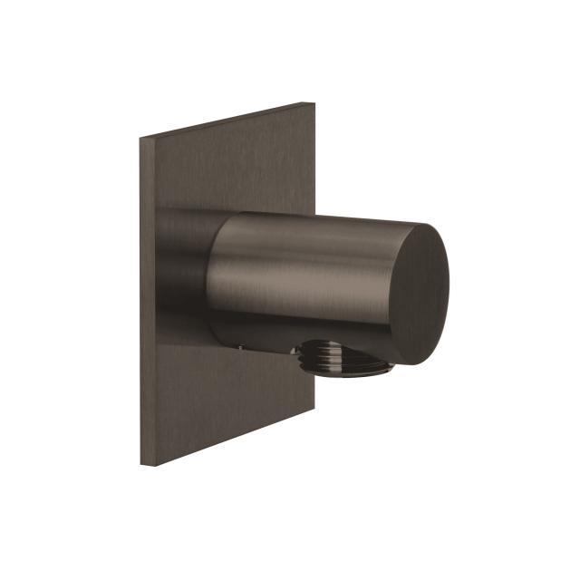 Herzbach Design iX PVD Brauseanschlussbogen seven eckig black steel
