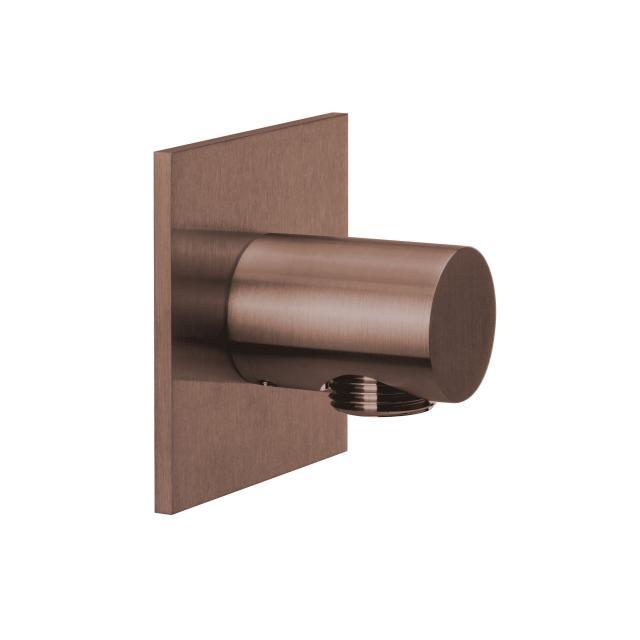Herzbach Design iX PVD Brauseanschlussbogen seven eckig copper steel