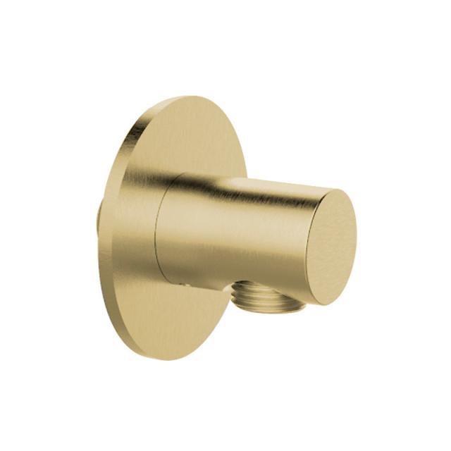 Herzbach Design iX PVD Brauseanschlussbogen seven rund brass steel