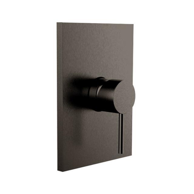 Herzbach Design iX PVD Brausebatterie Unterputz, eckig black steel