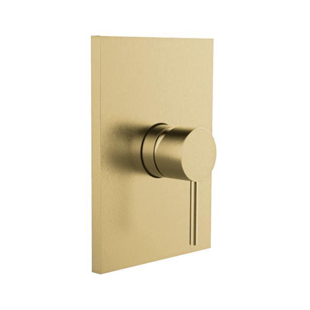 Herzbach Design iX PVD Brausebatterie Unterputz, eckig brass steel