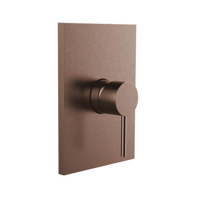 Herzbach Design iX PVD Brausebatterie Unterputz, eckig copper steel