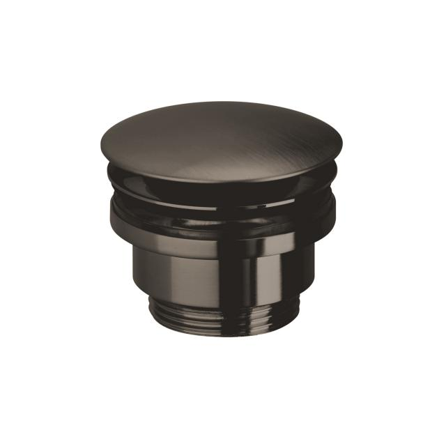 Herzbach Design iX PVD Design-Ablaufventil mit/ohne Staufunktion black steel