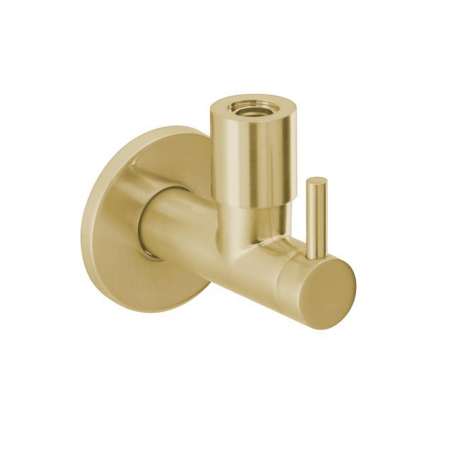Herzbach Design iX PVD Design-Eckventil 1/2 Zoll x 3/8 Zoll brass steel