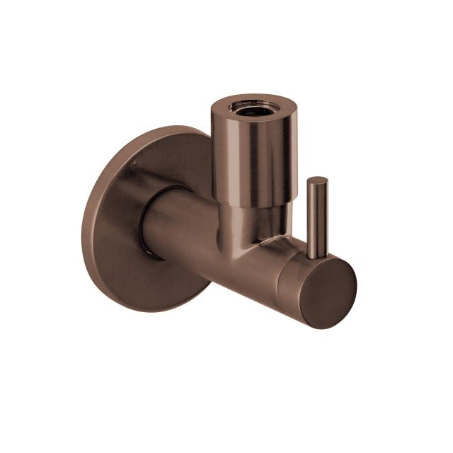Herzbach Design iX PVD Design-Eckventil 1/2 Zoll x 3/8 Zoll copper steel