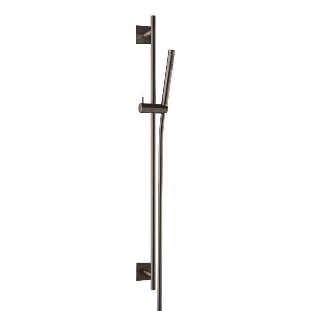 Herzbach Design iX PVD Dusch-Wandstangenset seven eckig black steel
