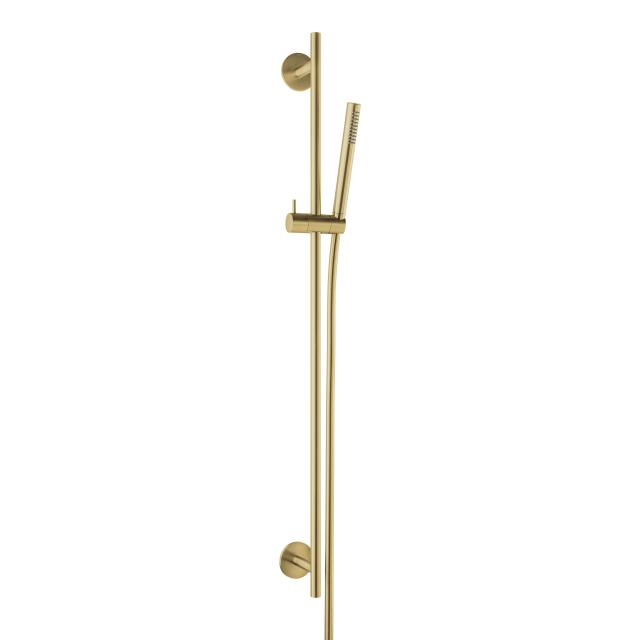 Herzbach Design iX PVD Dusch-Wandstangenset seven rund brass steel