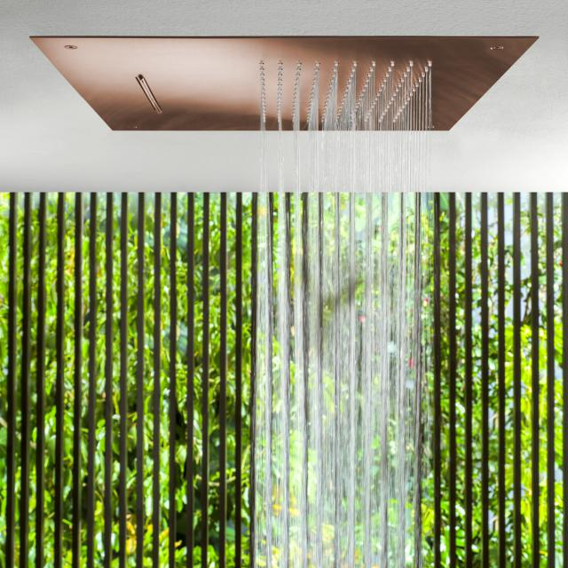 Herzbach Design iX PVD Regenbrause Multifunktion 2, zum Deckeneinbau copper steel