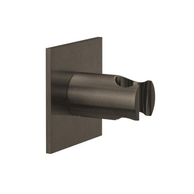 Herzbach Design iX PVD Wandhalter seven eckig black steel