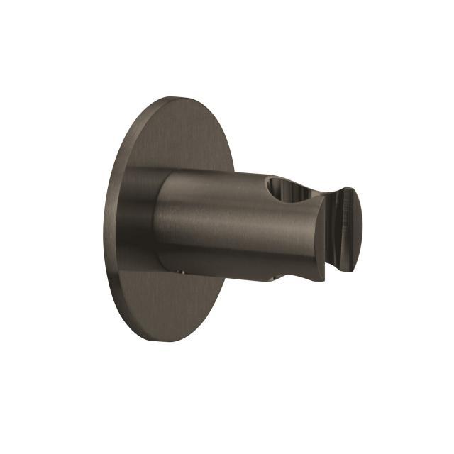 Herzbach Design iX PVD Wandhalter seven rund black steel