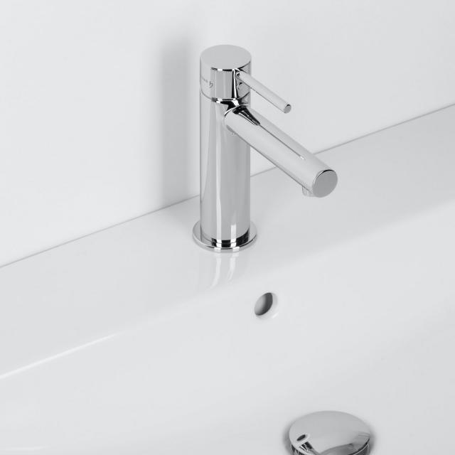 Herzbach Design New Waschtisch-Einlochbatterie mit Ablaufgarnitur