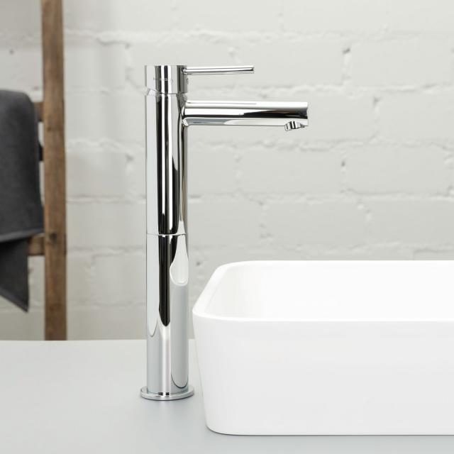 Herzbach Design New Waschtisch-Einlochbatterie mit erhöhtem Schaft ohne Ablaufgarnitur