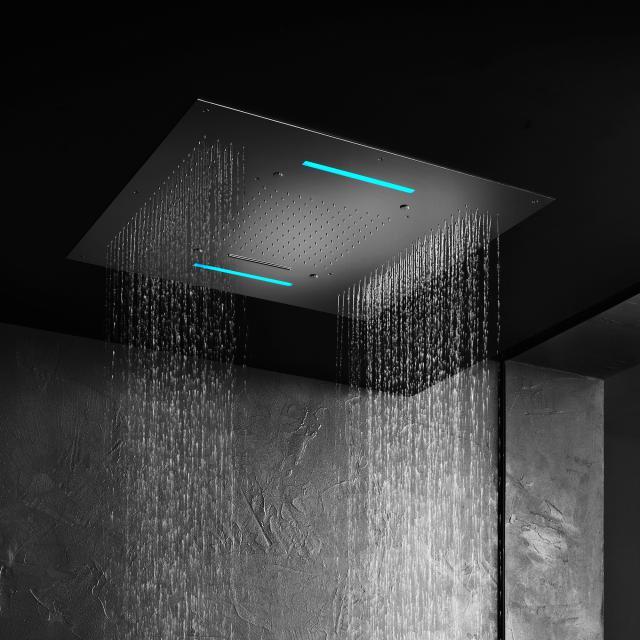 Herzbach Living Spa Farblicht-Regenbrause B: 950 T: 950 mm, Multifunktion 4, Deckeneinbau edelstahl poliert