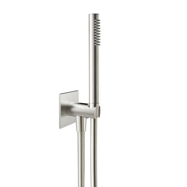 Herzbach Living Spa iX Wannen-Duschset seven eckig mit Brausehalter & -anschluss Länge: 1250 mm