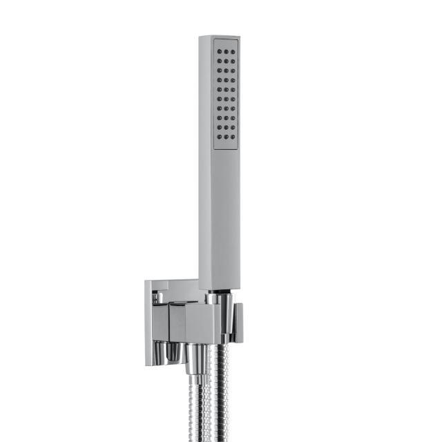 Herzbach Living Spa Wannenset  Brausehalter & -anschluss,  Länge: 1600 mm, Handbrause aus Messing