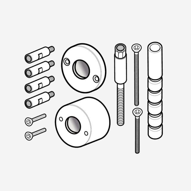Herzbach Logic XL Unterputzverlängerung für Vario Absperr-Modul, Länge: 40 mm