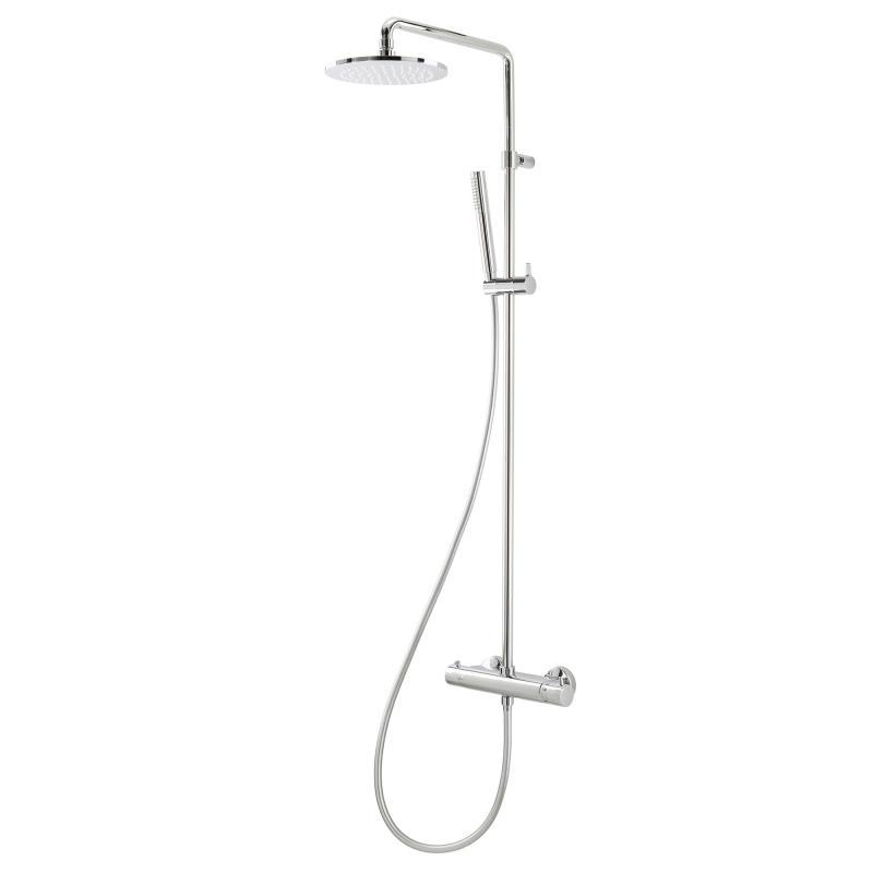 herzbach living spa duschs ule mit brause ap thermostat mit stabhandbrause chrom. Black Bedroom Furniture Sets. Home Design Ideas