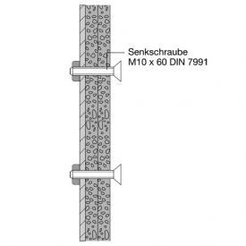Hewi Befestigungsmaterial für Leichtbauwände mit integrierten Stahlplatten