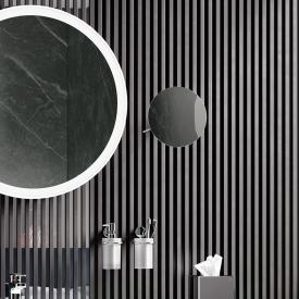 Hewi Kosmetikspiegel zur Wandmontage, mit 3-fach Vergrößerung chrom
