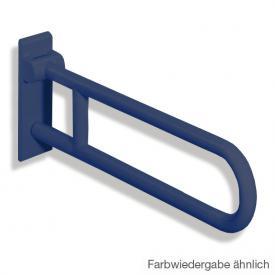Hewi Serie 801 drehbarer Stützklappgriff stahlblau