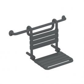 Hewi Serie 801 Einhängesitz B: 448 mm, Sitzfläche klappbar anthrazitgrau