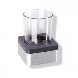 Hewi Serie 805 Glasbecher mit Halter anthrazitgrau