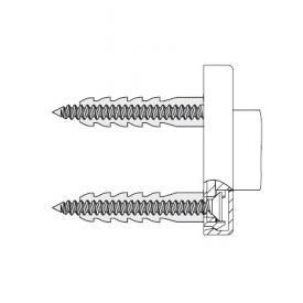 Hewi System 800 Befestigungsmaterial für Befestigung an der Wand mit rosetten