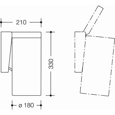 hewi serie 477 abfallbeh lter reinwei 99 reuter. Black Bedroom Furniture Sets. Home Design Ideas