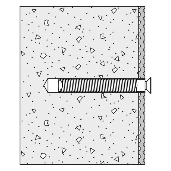 Hewi Befestigungsmaterial für Wandstütz- und Stützklappgriffe für Betonwände