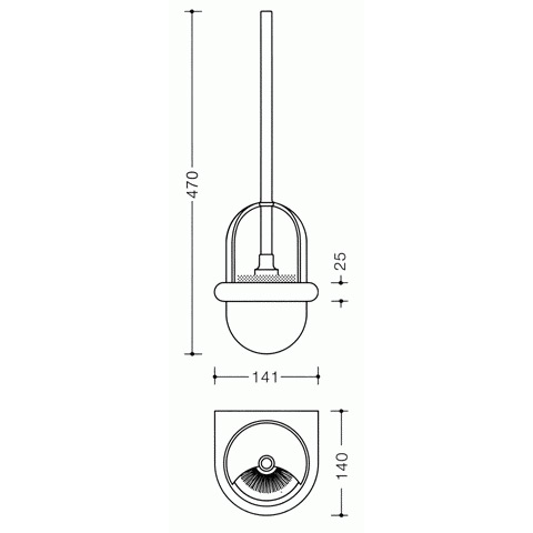Hewi Serie 477 WC-Bürstengarnitur anthrazitgrau