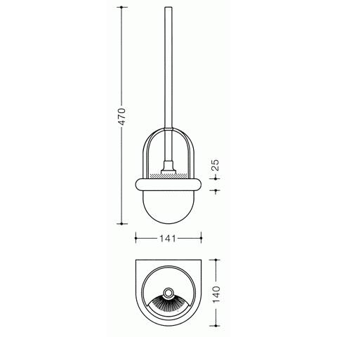Hewi Serie 477 WC-Bürstengarnitur reinweiß