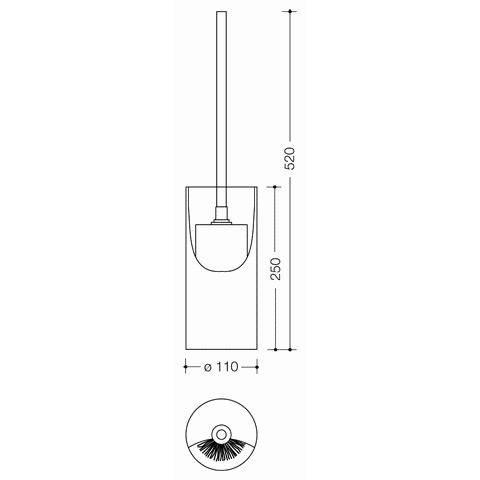 Hewi Serie 477 WC-Bürstengarnitur, freistehend reinweiß