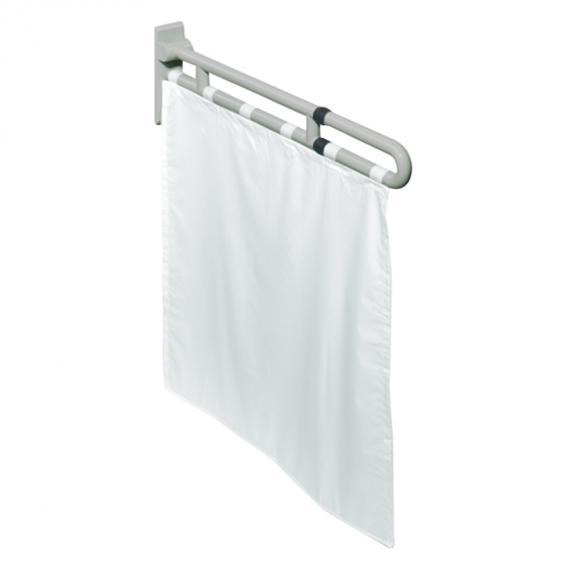 Hewi Serie 801 Duschspritzschutz weiß/silber felsgrau