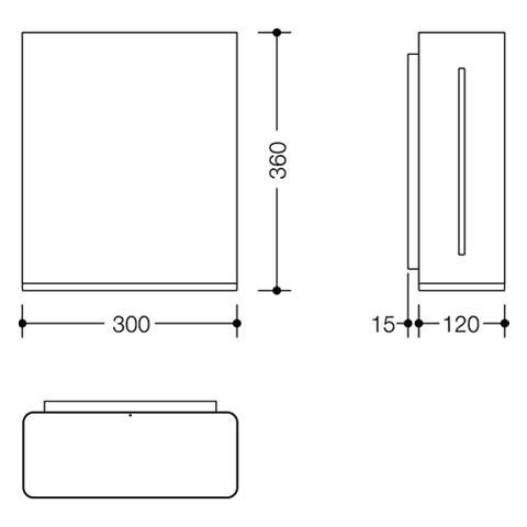 Hewi Serie 805 Papierhandtuchspender edelstahl gebürstet/reinweiß