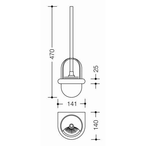 Hewi Serie 805 WC-Bürstengarnitur edelstahl gebürstet/anthrazitgrau