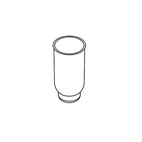 Hewi System 162 Einsatz für WC-Bürstengarnitur aus Kunststoff