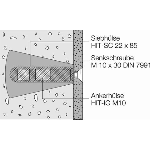 Hewi Befestigungsmaterial für Leichtbetonwände, Gasbetonwände und Gips-Wandbauplatten