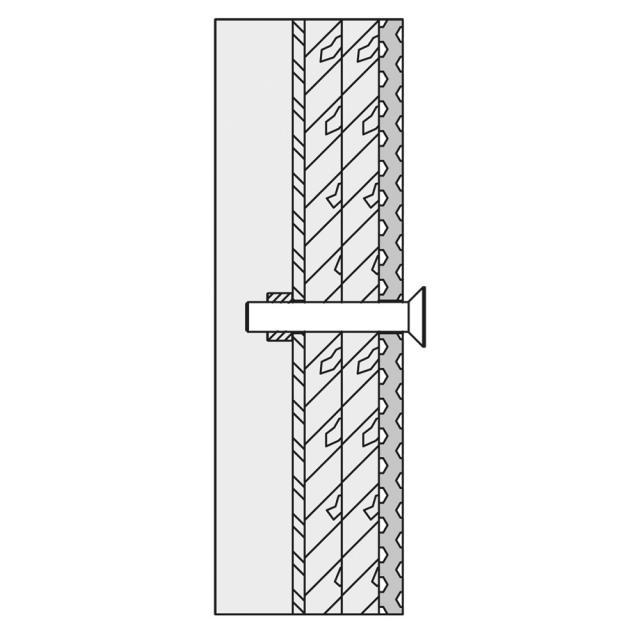 Hewi Befestigungsmaterial für Wandstütz- und Stützklappgriffe für Leichtbauwände