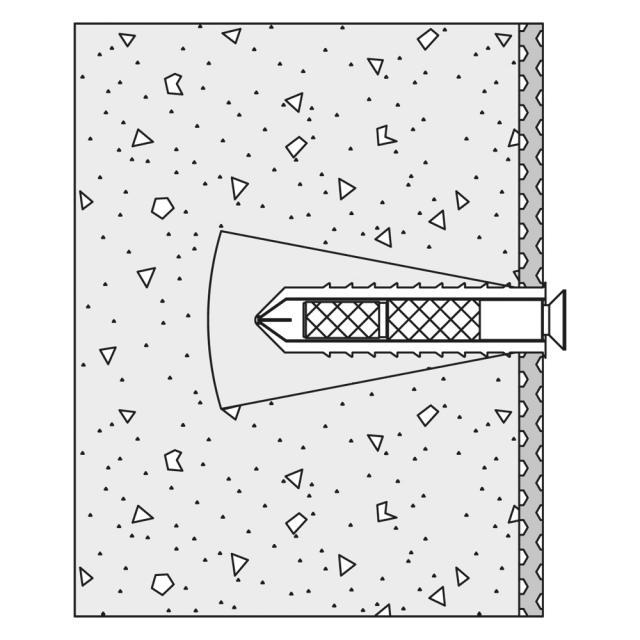 Hewi Befestigungsmaterial für Wandstütz- und Stützklappgriffe für Porenbeton