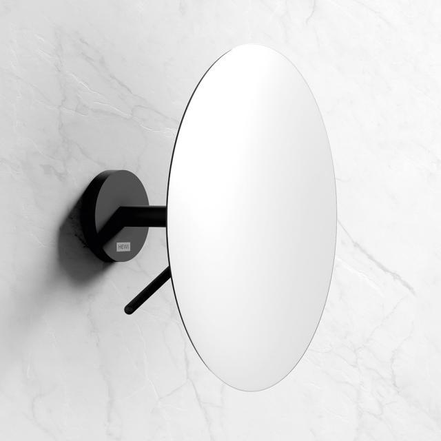 Hewi Kosmetikspiegel zur Wandmontage, mit 3-fach Vergrößerung schwarz matt