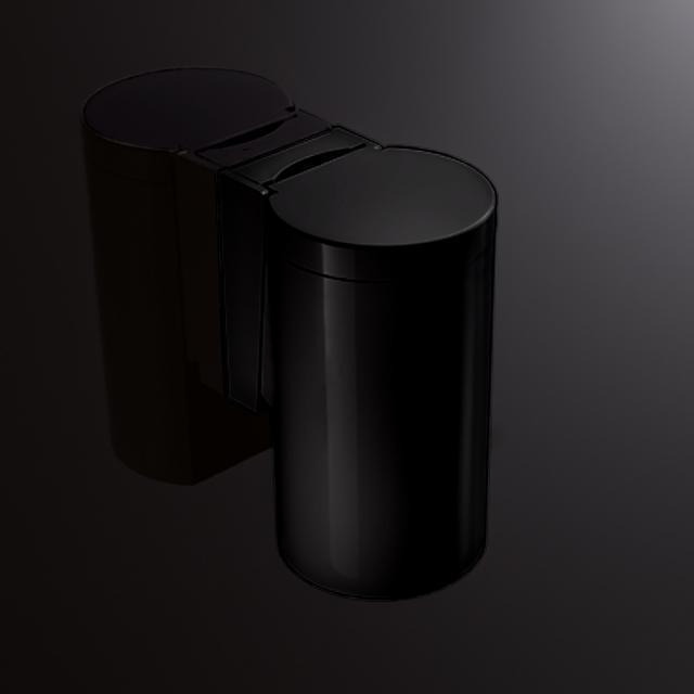 Hewi Serie 477 Abfallbehälter mit Klappdeckel tiefschwarz