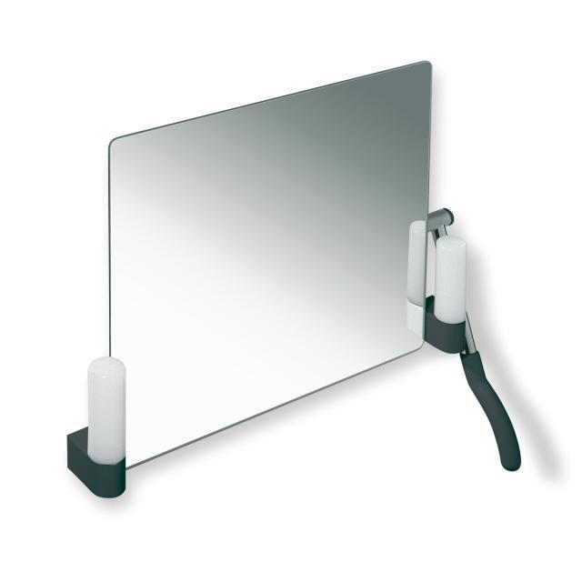 Hewi Serie 802 LifeSystem Kippspiegel mit Beleuchtung anthrazitgrau