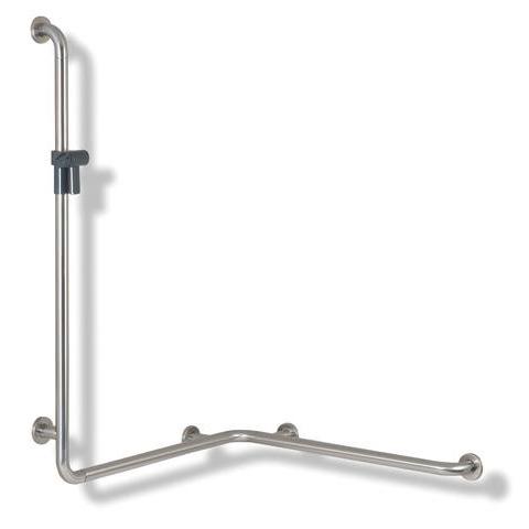 Hewi Serie 805 Dusch-Wannenhandlauf mit Brausehalter, Ausführung rechts anthrazitgrau