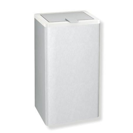 Hewi Serie 805 Hygieneabfallbehälter edelstahl gebürstet/reinweiß