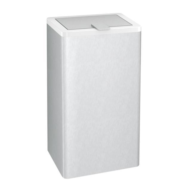 Hewi Serie 805 Hygieneabfallbehälter edelstahl gebürstet/signalweiß