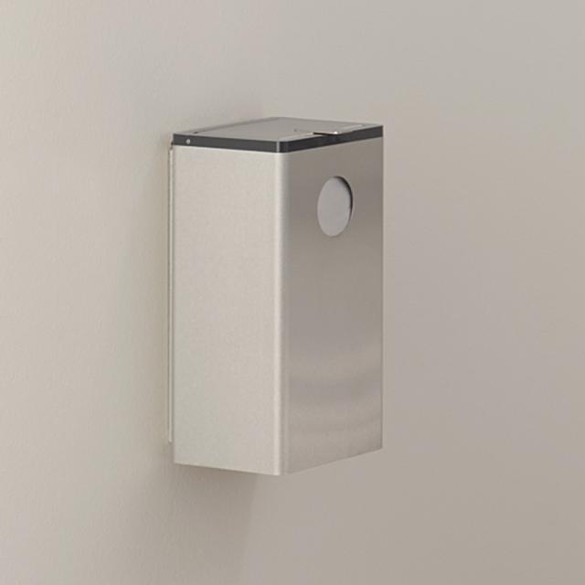 Hewi Serie 805 Hygieneabfallbehälter mit Beutelspender edelstahl gebürstet/tiefschwarz